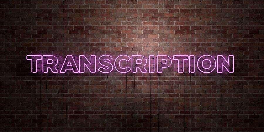 transcription - precise translation