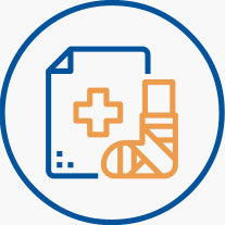 workers compensation transcription icon