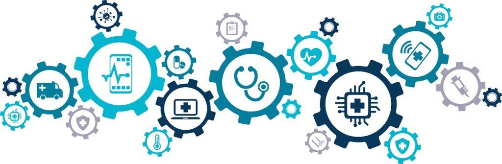 Healthcare Technology Gears - De-Identified Data - EHR Transcription